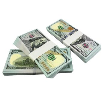 100PCS Prop Money New Style 100s Total $10000Full Print Stack for Movie - intl - 5