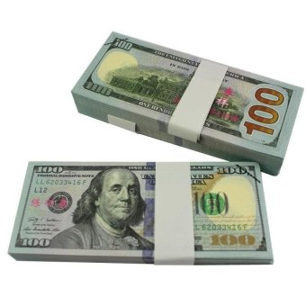 100PCS Prop Money New Style 100s Total $10000Full Print Stack for Movie - intl - 2