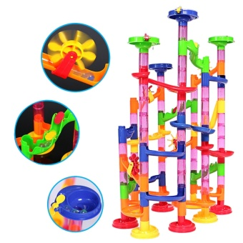 105Pcs Kids DIY Marble Run Railway Toys Set Building Blocks ToysEarly Education Accessories for over 5 years old Children - intl - 5