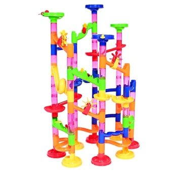105Pcs Kids DIY Marble Run Railway Toys Set Building Blocks ToysEarly Education Accessories for over 5 years old Children - intl - 2