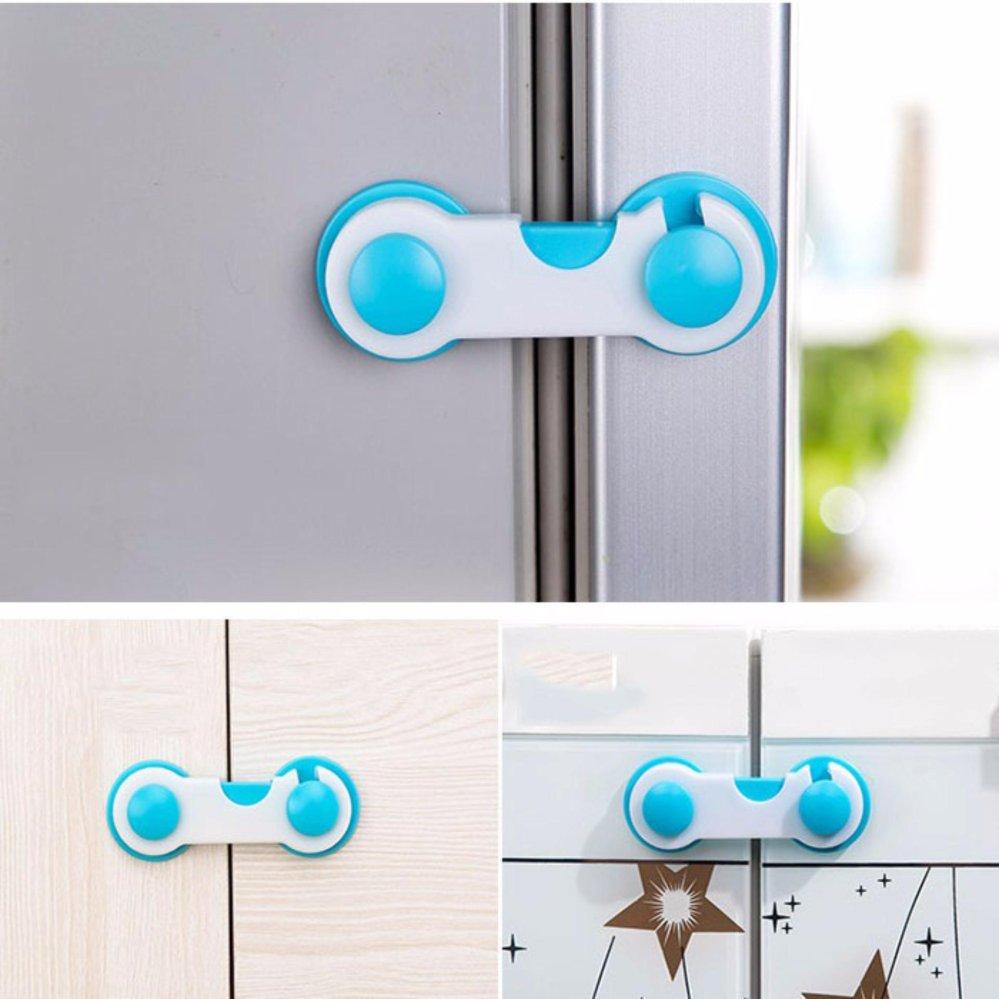 ... 10Pcs Baby Drawer Cupboard Refrigerator Plastic Locking  ProtectionChildren Kids Straps Safety Right Angle Corner Cabinet Locks ...