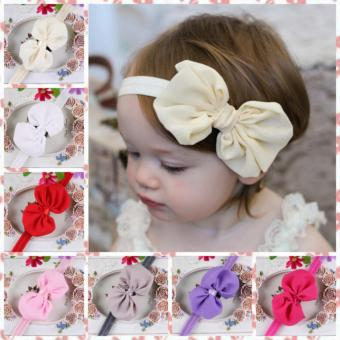 10pcs Baby Girls Toddler Newborn Hairband Headwear Bowknot Hairband Accessories - intl