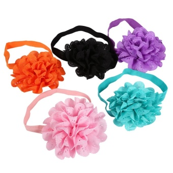 10pcs Cute Headband Hairband Flower Ears Tie Stretch Hair Accessories for Toddler Kids Baby - intl - 3
