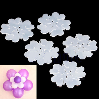 10Pcs Flower Balloons Plum Clip Tie Birthday Wedding Party Decor Supplier