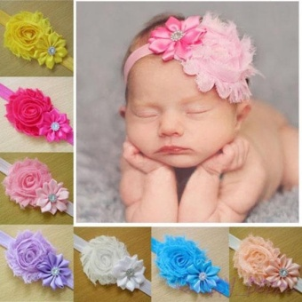 10pcs Kid Baby Girl Toddler Cute Lace Flower Headband Hair Band Headwear - intl
