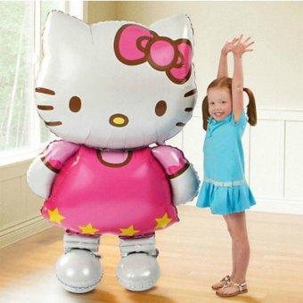 116*65cm Hello Kitty Large Helium Mylar Balloons for Christmas Party Baby's Birthday Balls - intl