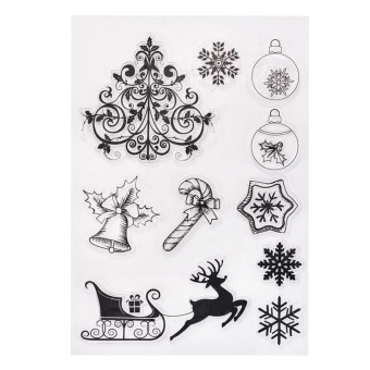 11x16cm Transparent Clear Stamp/Seal For DIY Scrapbooking/Decorative Clear Stamp Sheets Christmas Series YC69 - intl