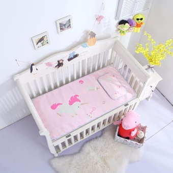 120*60CM Baby Crib Bedding Set Kids Bedding Set Newborn Baby Bed Set Crib Baby Cot Set (Pink) - intl