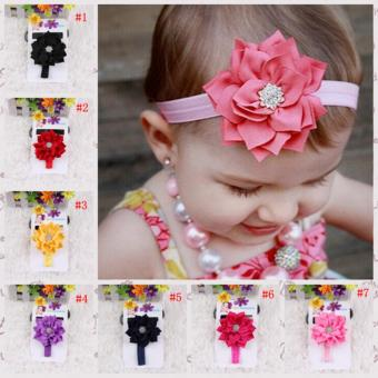 12pcs colorful baby girls hair bands infant newborn kids headbands - intl