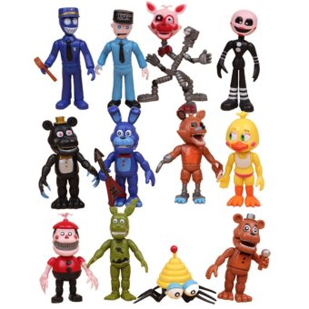12PCS FNAF Five Nights At Freddy's Foxy Chica Action Figures Doll Gifts For Kids - intl