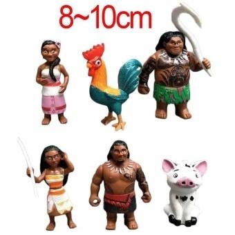 12pcs/set Moana Princess New Best NEW Moana Maui Waialik Heihei PVC Action Figures Toy Christmas Gift for Kids - intl