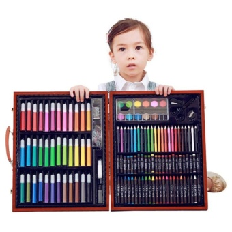 150pcs Professional Art drawing Painting set Student sketching Color Pencil Student Kids Artist Sketch Kit drawing Tool with case - intl