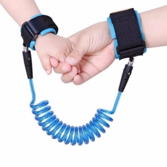 1.5m Baby Child Anti Lost Safety Velcro Wrist Link Traction Rope(Blue)