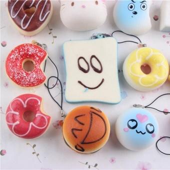 ... 15pcs Small Soft Squishy Foods Cute Doughnuts Cakes Breads Handbag Pendant Buns Phone Straps Decoration ...