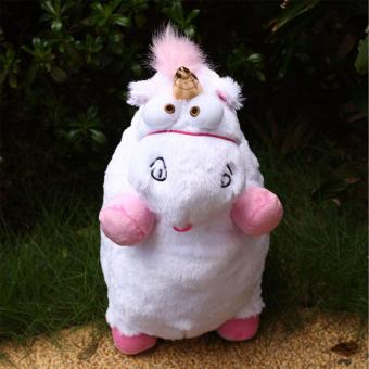 "16"" inch New Despicable Me Fluffy Unicorn White Soft Plush Doll Fluffy Toys Gift - intl Price Philippines"