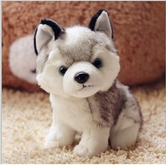 18CM Kawaii Simulation Husky Dog Plush Toy Gift For Kids StuffedPlush Toy New Arrival - intl