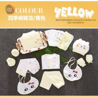 18pcs/set Newborn Babies Cotton Clothing Baby Boys Girls PrintSuits Toddlers Clothes + Accessories - intl - 2