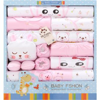 18pcs/set Newborn Babies Cotton Clothing Baby Boys Girls PrintSuits Toddlers Clothes + Accessories - intl - 4