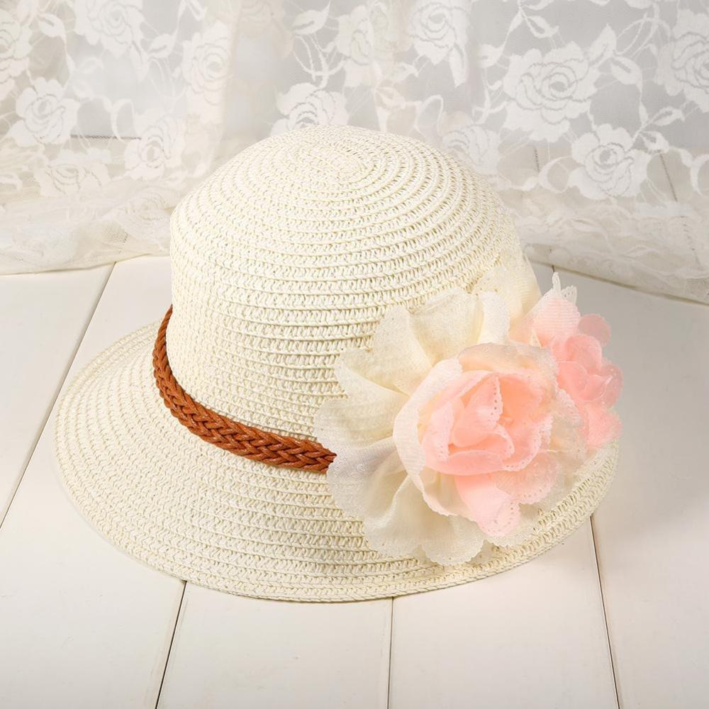Baby Girls Kids Jersey Turban Hat Child Cotton Soft Topi Anak Knot Bando Bayi 1pc Summer Flower Beach Outdoor Sun Hats Straw Capfor 2