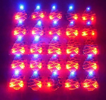 1PCS Christmas LED Flash Light Brooch Pin Badge Light Up Toys Christmas Tree - intl - picture 2