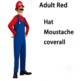 (1Set Adult Size L 175-185CM-Red)Funy Cosplay Party Dress Up Super Mario Adult Halloween Costumes for Men Women - intl - 5