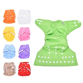 1SET Sweet Alva Reusable Baby Washable Cloth Diaper Nappy +1INSERT Green - intl