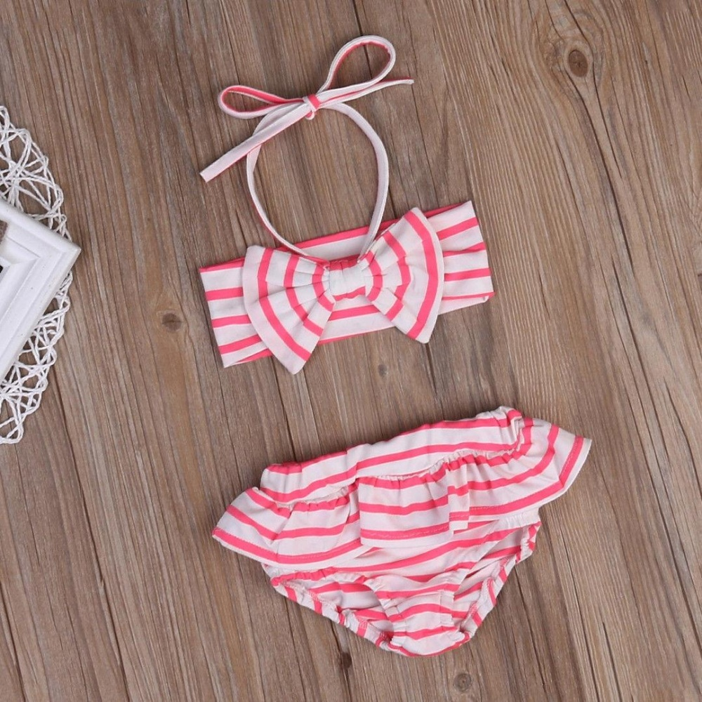 ... 2-7T Pink Kids Baby Girls Pink Bikini Suit Set Swimsuit SwimwearBathing Swimming Clothes ...