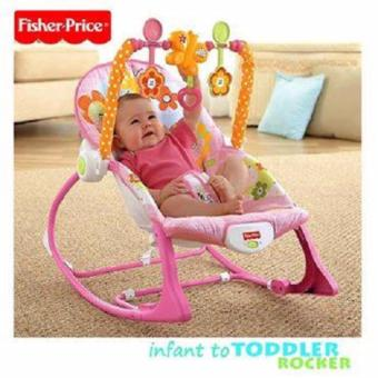 2-in-1 Fisher Price Rocker Infant to Toddler Bunny (Pink)