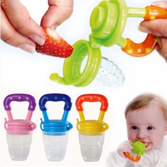 2 Pcs (L:6 Months and Up) Baby Fruits Feeding Food PacifierSilicone Kids Juice Feeding Teethers Nipple - intl - 2