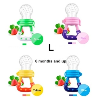 2 Pcs (M:3 to 6 Months) New Cute Baby Pacifier Fresh Food Feederwith Cap Feeding Bottles Kids Nipple Safe Supplies BPA Free - intl