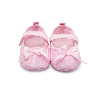 2016 Newborn Baby Shoes Ruffles Butterfly-knot Design Christening Shoes Non-slip Infant Toddler Baby First Walkers Shoes - Intl