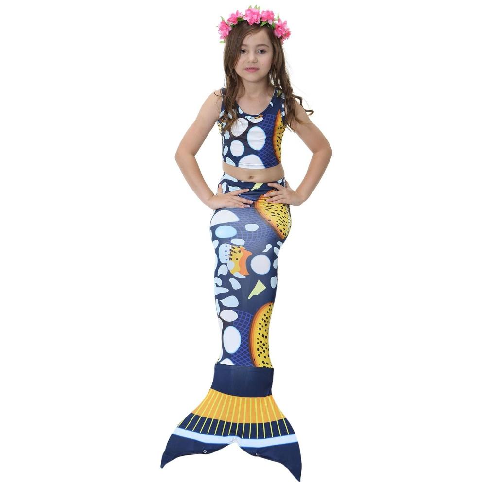... 2017 Kids Girls Mermaid Swimming Swimmable Mermaid Tail SwimwearCostume For Swimming Beach Children Bikini Swimmable Suit ...