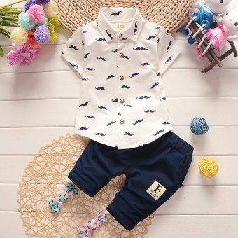 2017 New Arrival 2pcs/Set Polo Shirts Clothing Set for ChildrenKids Boys 110cm - intl