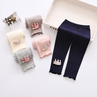 2017 New Hot Sale Baby Girl Leggings Girls Pants for Girls Cotton Kids Children Trousers - intl