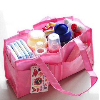 2017 practical pregnant woman handbag portable packet baby diapersdiaper change bag milk bottle locker inner container blue pink -intl - 3