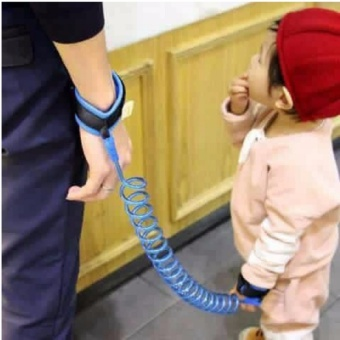 2.0M Baby Child Anti Lost Safety Velcro Wrist Link Traction Rope