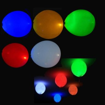20Pcs Glow In The Dark Sky Lanterns Led Flash Balloons IlluminatedLED Balloon Wedding&Birthday Decoration globos Party Baloons -intl - 3