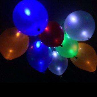 20Pcs Glow In The Dark Sky Lanterns Led Flash Balloons IlluminatedLED Balloon Wedding&Birthday Decoration globos Party Baloons -intl - 2