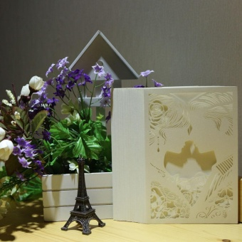 20pcs Romantic Laser Cut Wedding Invitation Card Bride Groom Carved Pattern Wedding Card Hollow Out Wedding Banquet Party Favor