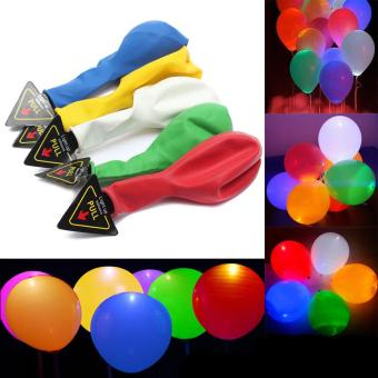 20Pcs/pack Glow In The Dark Lanterns Globos Party Baloons Led Flash Balloons Illuminated LED Balloon Wedding Birthday Decoration - intl