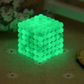 216pcs 5MM Fluorescent Buckyballs Neocube Magic Beads Magnetic Balls Puzzle DIY Intelligence Desk Toys - intl