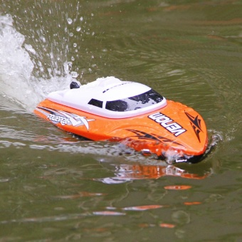 25km/h Super High Speed RC Boat Auto Rolling Back ElectricMotorboat 4CH Model Self -Righting Remote Control Speedboat RC BoatTempo Power Venom Electronic Ship with Auto Capsizing RectifyingDeviation Direction Function - intl - 2
