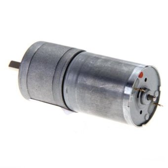 25mm 12V DC 300RPM Powerful Torque Motor Speed Gear Box Reduction Toy (Black)