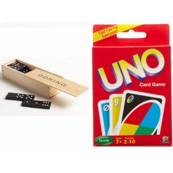 28 Pieces Domino Game Play Set and Uno Card Game Set