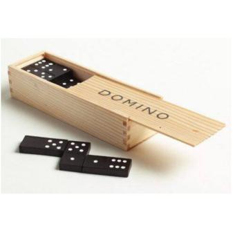 28 Pieces Domino Game Play Set Fun Board Game Party Toy with WoodenBox