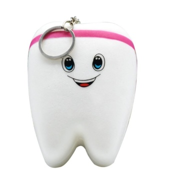 "2.8*3.9"" Slow Rising Lovely Squishy PU Tooth Toy for Kids, StressRelief Vent Emotions Toy Color:Pink Size:7*10cm - intl Price Philippines"