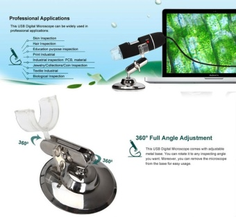 2MP 1000X 8LED USB Digital Microscope Endoscope Video Magnifier +Stand