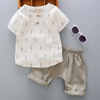 2PC Baby Boys Clothes Infant Toddler Boy Clothing Tee Shirt + PantsOutfits Sets - intl