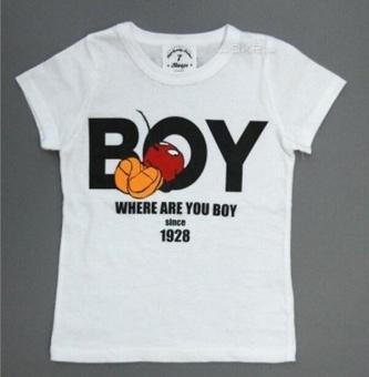 2PCS Kids Boys Tracksuit Outfits Letter Print T-shirt+Palm ShortsSport Clothes Set For 2-7Y Boys - intl - 3