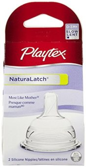 2pcs Playtex Natural Latch Slow Flow Nipple for 0-3M+ Price Philippines
